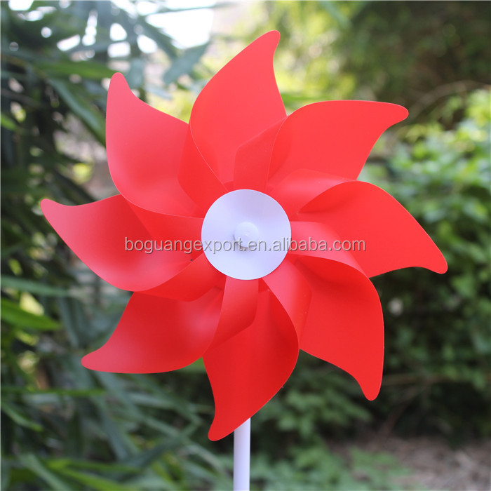 High Performance Large Advertise Gift Colorful Custom Printing Eight Leaf Pinwheels For Party Decoration