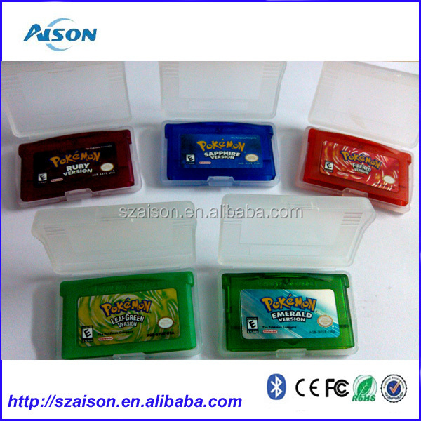 2014 wholesale Pokemon Bluesea Edition Pokemon Game Cards for NDSL/GB/GBC/GBM/GBA SP