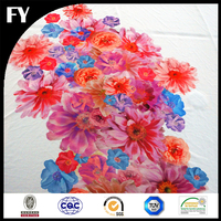 Custom quality and quantity assured digital printed silk velvet fabric price