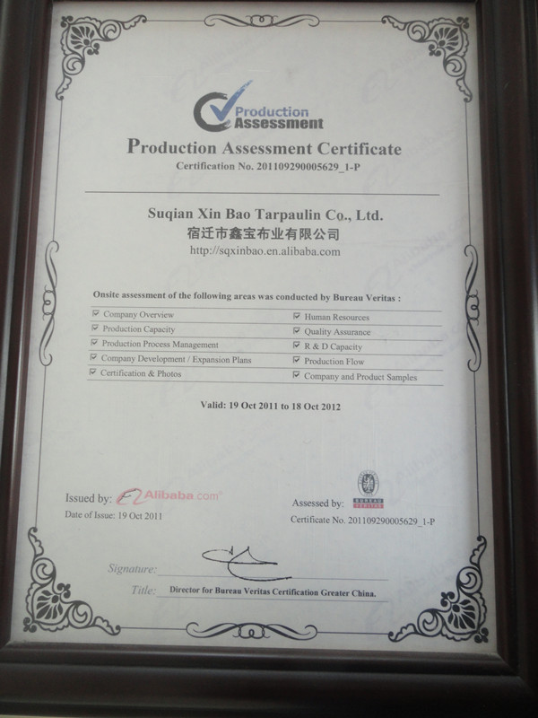 Product Assement Certificate