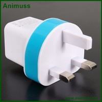 CE FCC ROHS Certificated portable charger US,EU,AU,UK,South Africa plug power adapter