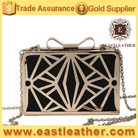 N218 italian party shoes and bags new good quality clutch bag metal frame