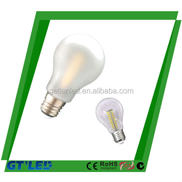 E27/ B22 7W glass Led Bulb/600lm GLS bulb with beautiful design dimmable bulb lamps