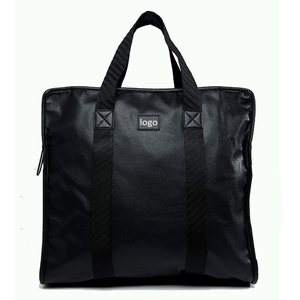 Hot selling large black duffle bag oversize leather travel bag
