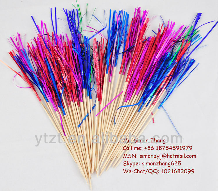 Party decoration for fireworks picks