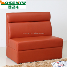 Luxury PU leather sofa, booth sofa for Coffee and tea shop, sofa 2seater normal size