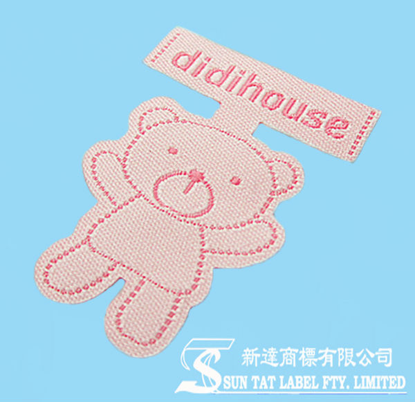 Cute Laser-cut Heat Seal Adhesive Denim Woven Patch