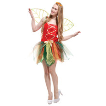 Fairy Costume Forest Green Elf Dress With Wings Flower Fairy cosplay Costumes