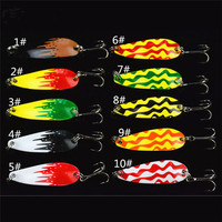 2016 New Metal Spoon Fish Lure Colorful Paillette Lure 4.3CM/6G 10Pcs/Set Fishing Lure Metal Jig