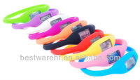 Fashion silicon rubber anion watch, silicone negative ion wristband watch