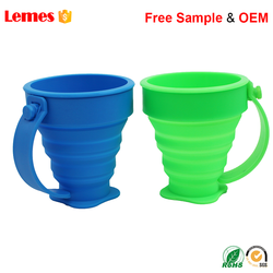Wholesale Folding Foldable Custom Water Drink Silicone Collapsible Cup