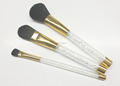 Acrylic handle and crystal Rhinestones 3pcs makeup brush set