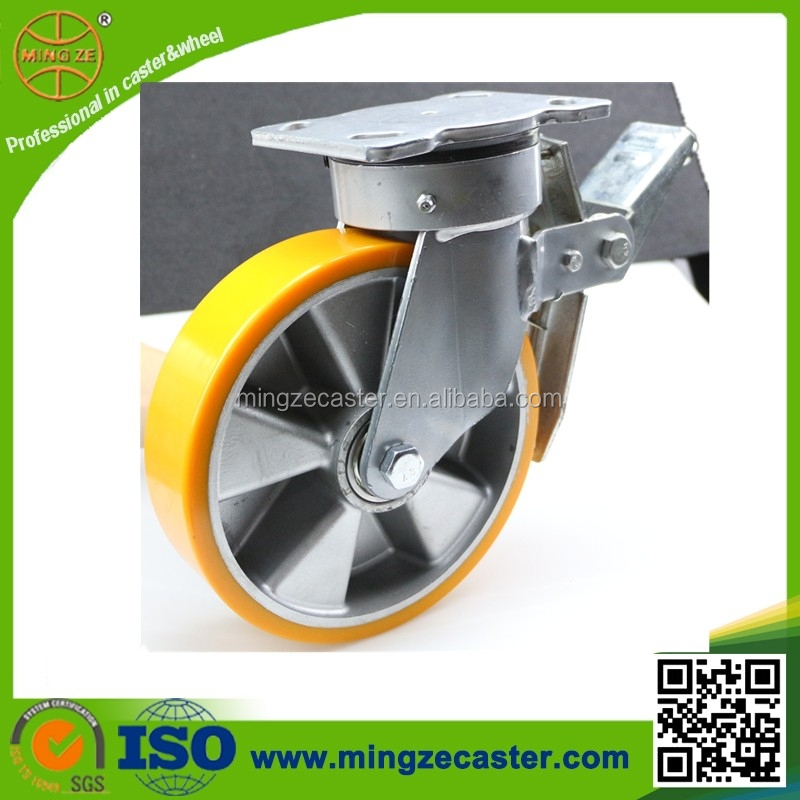 Out door transport dolly caster lifting wheels with directional lock