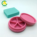 silicone pill case Custom shaped /logo printing silicone Small oil box travel cases