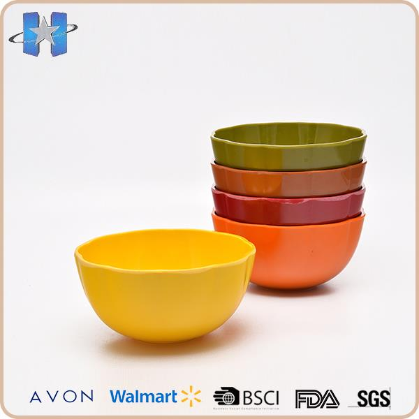 Easy clean eco friendly melamine rich bowl