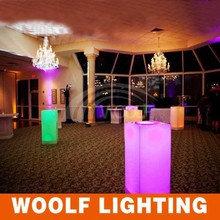 plastic led pillars for outdoor decoration