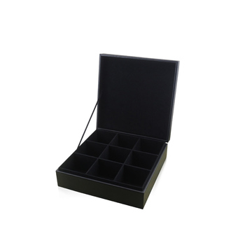 Chinese supplier promotion wood leather tea gift  box