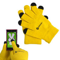 fashion acrylic magic stretch cell phone gloves