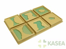 Montessori teaching kids resource for Land and Water Form Trays:Set 1
