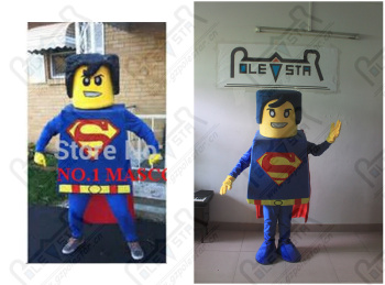 customized super man mascot costume OEM new mascot design for party