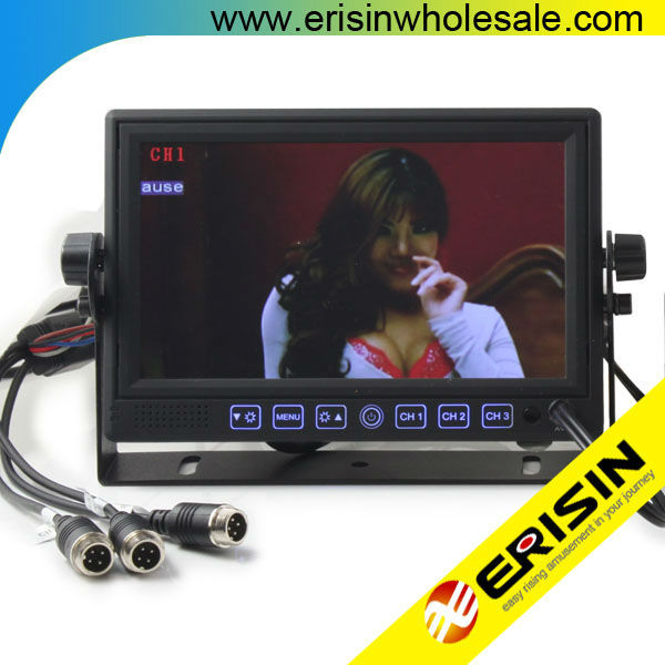 "Erisin ES312 Truck 7"" HD Color TFT LCD Monitor Sunvisor CCD Rear View Camera"