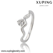10836 XUPING diamond jewelry sample Rohdium color engagement wedding ring,s shaped engagement ring