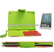 Fashion mobile case wallet leather case with stylus holder for ipad mini