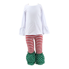 Christmas outfit toddler girl's clothing ruffle polka dot pant set adult baby girl clothing