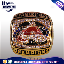Ruby alloy Sports game gold medalist finger ring custom men's championship rings