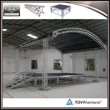 Fashion aluminum circle curved roof truss system for events