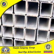high quality hot dip galvanized steel square pvc drain pipe for greenhouse construction