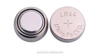 Mercury Free Alkaline button coin batteries LR44 AG13