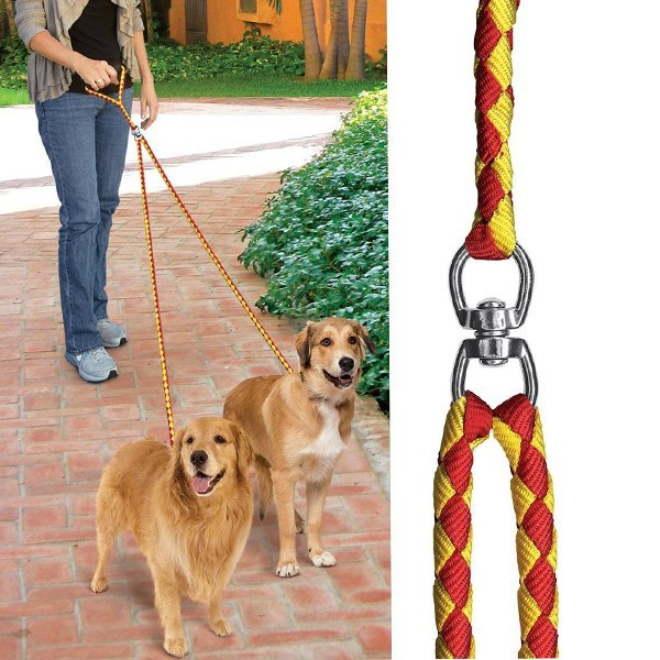 Eastony No-Tangle Dual Dog Leash, Double Dog Leash Coupler for 2 Dogs, for Big Dogs
