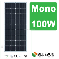 Bluesun factory hot sale Led streetlight mono photovoltaic best 12v 100w solar panel price