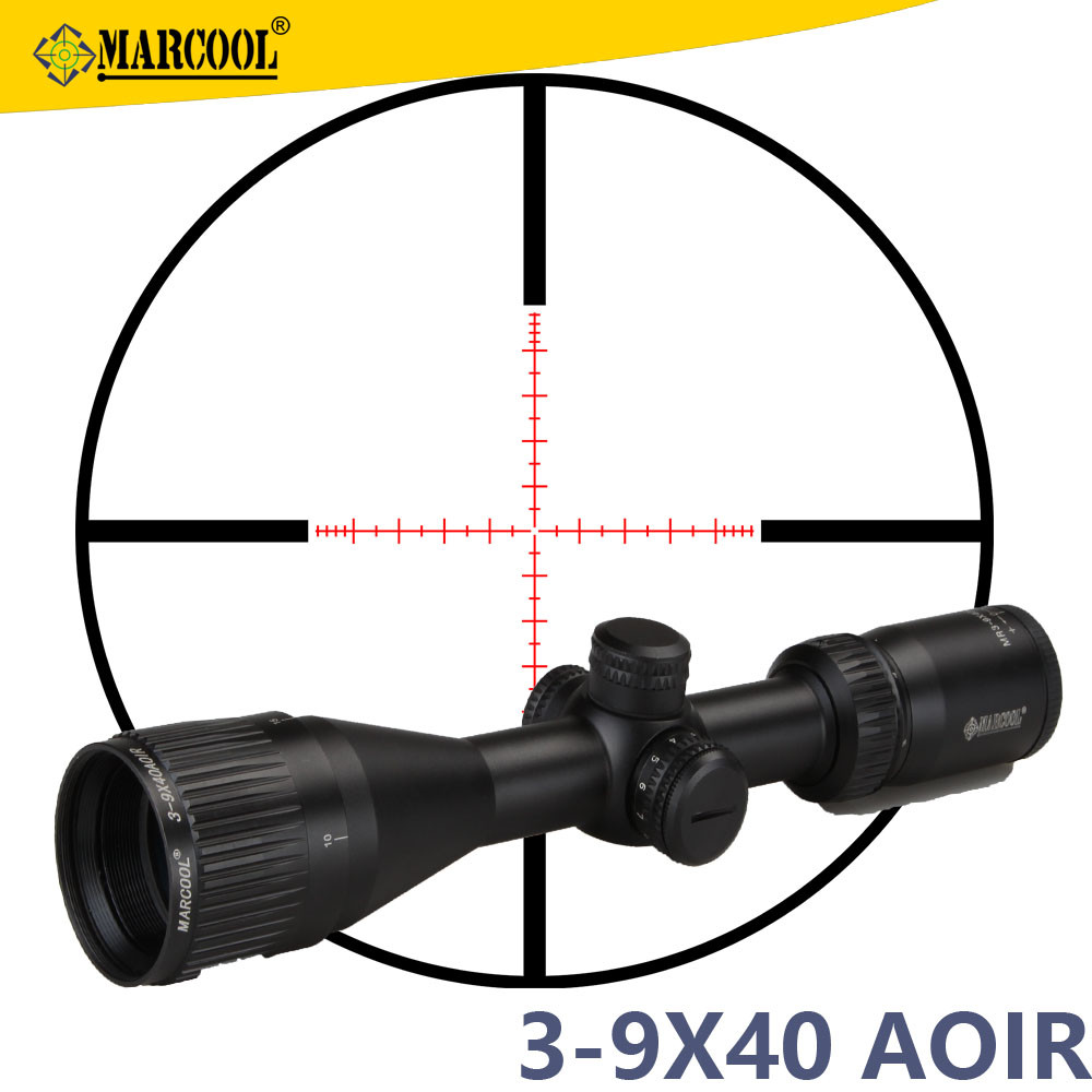 Marcool Scopes Optics 3-9x40 The Ar15 Air soft Military Guns Hunting Accessories Red Dot Sight Riflescope