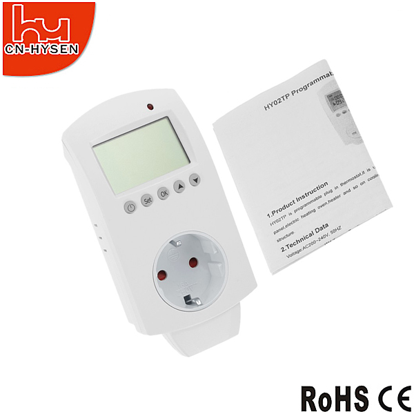 Plug Thermostat Switch For Heating System,Seven Day Programmable Outlet Thermostat