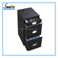 metal file cabinet with a4 folders with pencil box