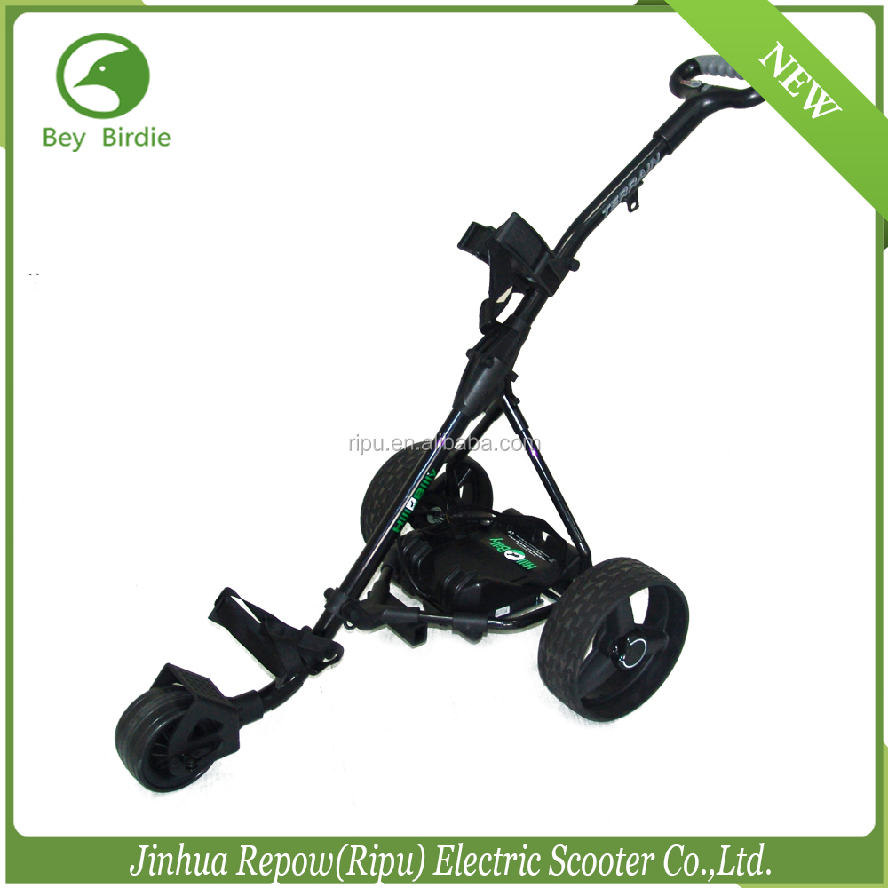 golf trolley with CE 12V 150W lithium battery electric golf trolley