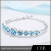 CDE Crystals From Swarovski Wholesale Heart Bangles Bracelets