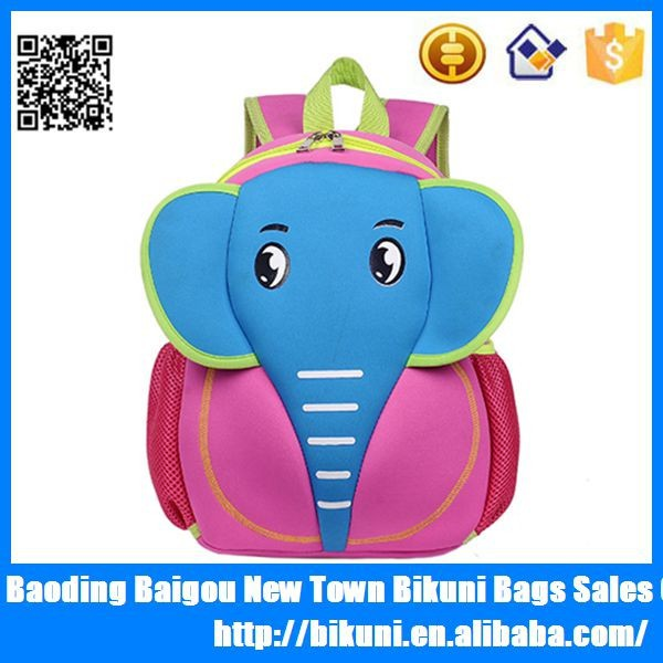 Alibaba new products kids cartoon animal bags for children school bags China