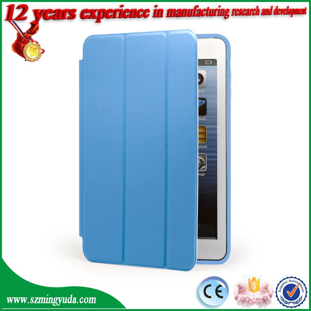 Factory smart cover case For iPad mini , magnetic pu leather case For iPad mini Case