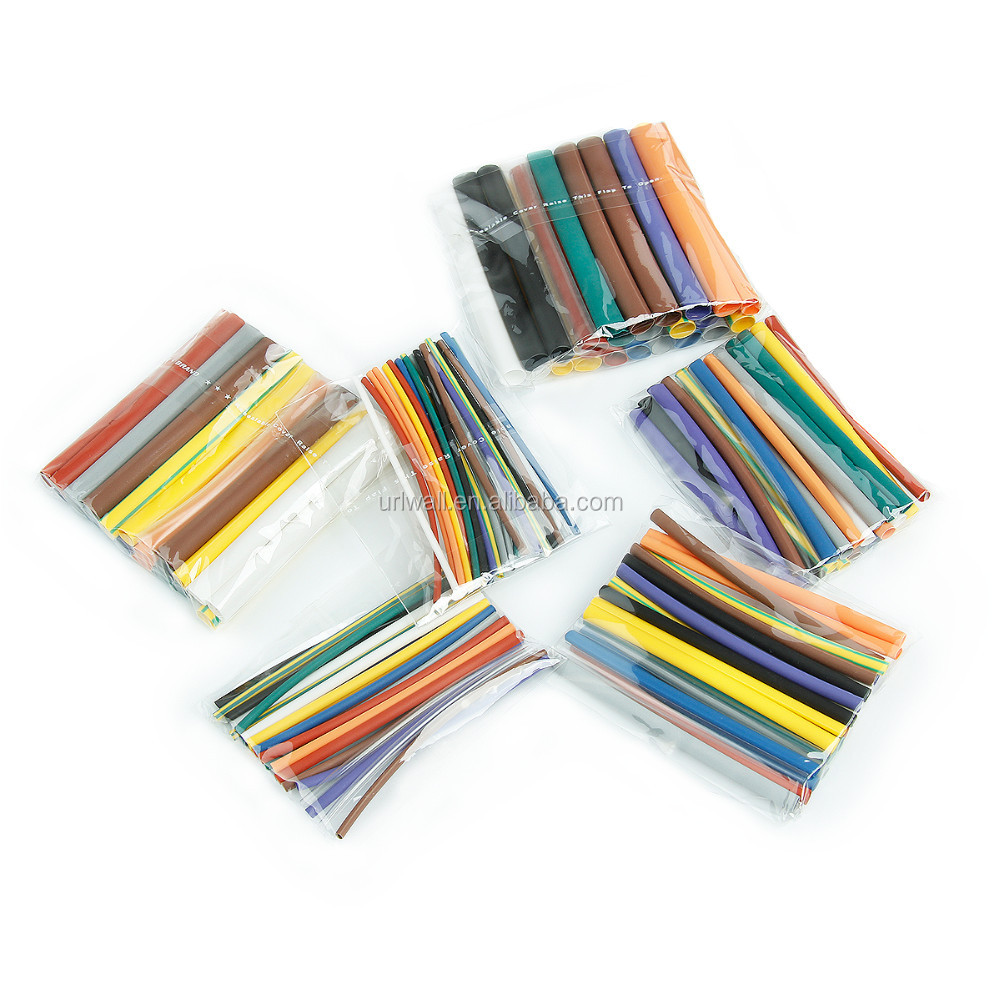 144pcs 2:1 Polyolefin Heat Shrink Cable Sleeve Electrical Insulation ...