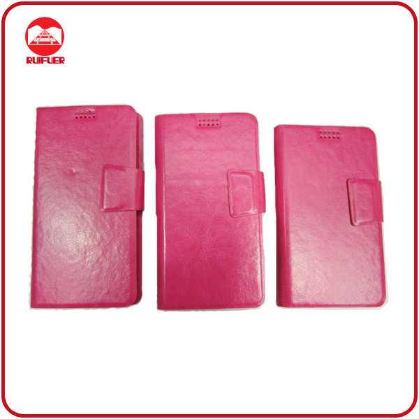 China Manufacturer High Quality With Sucker Magnet Flip Universal Smart Phone Wallet Style Leather Case