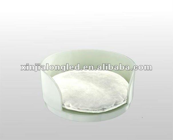 Half Open Round Clear Acrylic Pet Dog Bed Simple Range Acrylic Puppy Beds and Accessories