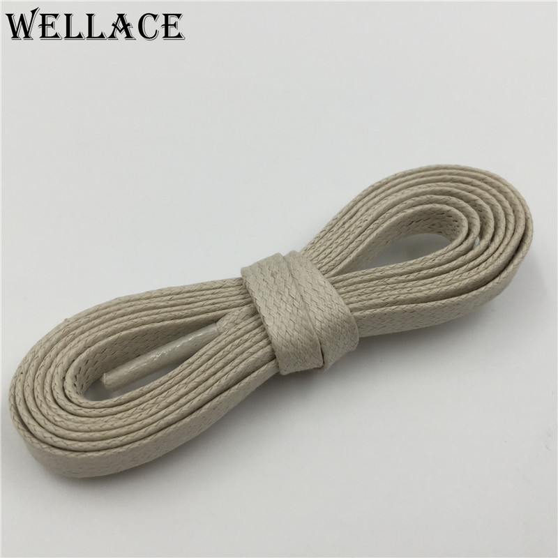 Weiou waxed cotton laces colorful shoe strings shoelace shoe shop