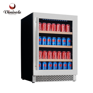 Countertop Beverage Display Cooler Can Cooler Steel Built In Refrigerator