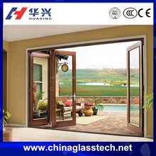 CE certificate aluminium proflie insulated glass doors and pictures