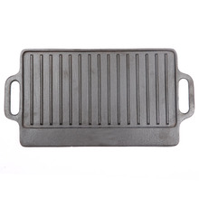 classic cookware quality bbq grill reversible cast iron plate