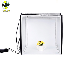 60cm 50cm professional photography equipment kit led light mini photo studio, photo box