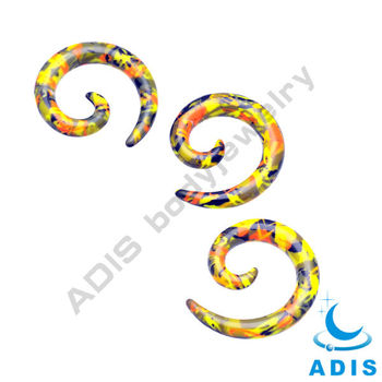Fashion Acrylic Spiral Ear Plugs,Spiral Ear Stretchers